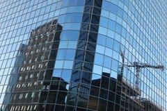 Σύγχρονοι ουρανοξύστες στη Φρανκφούρτη Αμ Μάιν, Γερμανία Στοκ εικόνες με δικαίωμα ελεύθερης χρήσης