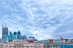 Σύγχρονοι ουρανοξύστες στο Λονδίνο, UK Στοκ Εικόνα