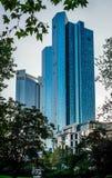 Σύγχρονοι ουρανοξύστες της Φρανκφούρτης Αμ Μάιν, Γερμανία Στοκ φωτογραφία με δικαίωμα ελεύθερης χρήσης