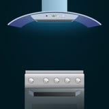 Σύγχρονοι φούρνος και εξολκέας απεικόνιση αποθεμάτων