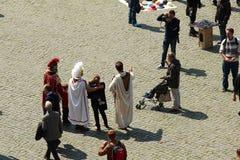 Σύγχρονοι gladiators Στοκ φωτογραφία με δικαίωμα ελεύθερης χρήσης