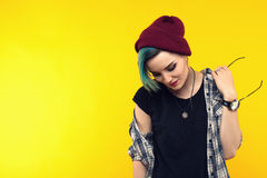 σύγχρονος έφηβος χρώμα/ζωηρόχρωμο hairstyle Στοκ εικόνες με δικαίωμα ελεύθερης χρήσης
