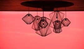 Σύγχρονος λαμπτήρας σιδήρου ύφους για τη διακόσμηση Στοκ Εικόνα