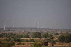 Σύγχρονος ανεμόμυλος σε Jaisalmer Στοκ εικόνα με δικαίωμα ελεύθερης χρήσης