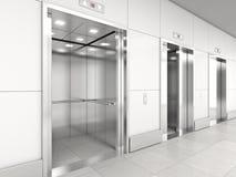 Σύγχρονος ανελκυστήρας τρισδιάστατος Στοκ Εικόνες