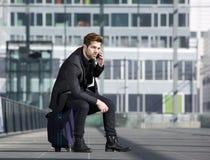 Σύγχρονος αρσενικός ταξιδιώτης Στοκ εικόνες με δικαίωμα ελεύθερης χρήσης