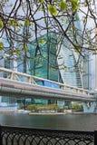 Σύγχρονος αρχιτεκτονικός σύνθετος της Μόσχα-πόλης και της γέφυρας Bagration στη Ρωσία στοκ φωτογραφίες