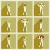 Σύγχρονος επίπεδος αριθμός ραβδιών συλλογής εικονιδίων διανυσματικός Στοκ φωτογραφία με δικαίωμα ελεύθερης χρήσης