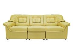 σύγχρονος καναπές κίτρινος Στοκ Εικόνες