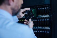Σύγχρονος κεντρικός υπολογιστής ραφιών που τίθεται στη θέση του Στοκ Φωτογραφίες