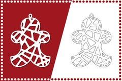 Σύγχρονος κλόουν Χριστουγέννων Παιχνίδι του νέου έτους για την κοπή λέιζερ επίσης corel σύρετε το διάνυσμα απεικόνισης ελεύθερη απεικόνιση δικαιώματος