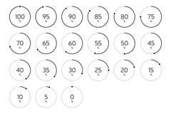 Σύγχρονος κύκλος φόρτωσης Infographic καθορισμένος - ο Μαύρος Στοκ φωτογραφίες με δικαίωμα ελεύθερης χρήσης