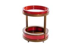 Σύγχρονος ξύλινος και κόκκινος στρογγυλός μπουφές Στοκ Εικόνα