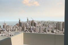 Σύγχρονος ορίζοντας πόλεων ελεύθερη απεικόνιση δικαιώματος