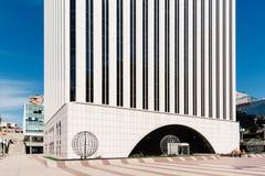 Σύγχρονος ουρανοξύστης στην οικονομική περιοχή της Μαδρίτης στοκ φωτογραφία με δικαίωμα ελεύθερης χρήσης