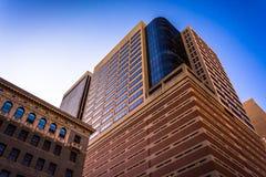 Σύγχρονος ουρανοξύστης στη στο κέντρο της πόλης Βαλτιμόρη, Μέρυλαντ στοκ εικόνες