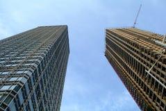Σύγχρονος ουρανοξύστης της Κίνας κάτω από την κατασκευή Στοκ φωτογραφία με δικαίωμα ελεύθερης χρήσης
