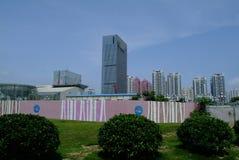 Σύγχρονος ουρανοξύστης της Κίνας under-construction Στοκ Φωτογραφία