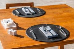 Σύγχρονος πίνακας γευμάτων ύφους Στοκ Φωτογραφία