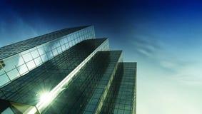 σύγχρονος πύργος χάλυβα γραφείων γυαλιού Στοκ Εικόνα