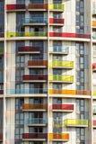 Σύγχρονος στενός επάνω πολυκατοικίας Στοκ Φωτογραφία