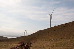 Στρόβιλος ανεμόμυλων, αιολική ενέργεια, πράσινη ενέργεια Στοκ Εικόνες