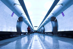 σύγχρονος υπόγειος σταθμών Στοκ εικόνες με δικαίωμα ελεύθερης χρήσης