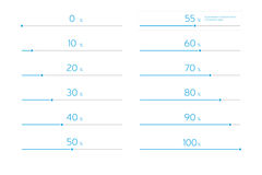 Σύγχρονος φραγμός φόρτωσης Infographic καθορισμένος - μπλε ουρανού Στοκ Φωτογραφίες