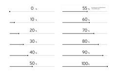 Σύγχρονος φραγμός φόρτωσης Infographic καθορισμένος - ο Μαύρος Στοκ φωτογραφία με δικαίωμα ελεύθερης χρήσης