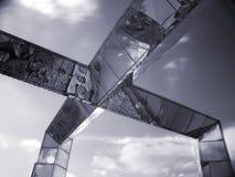 σύγχρονος χάλυβας αρχιτ& Στοκ Φωτογραφία