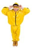 Σύγχρονος χορευτής φόρεμα που απομονώνεται στο κίτρινο Στοκ φωτογραφία με δικαίωμα ελεύθερης χρήσης
