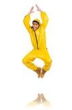 Σύγχρονος χορευτής φόρεμα που απομονώνεται στο κίτρινο Στοκ Φωτογραφίες