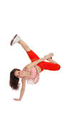 Σύγχρονος χορευτής ύφους στο απομονωμένο υπόβαθρο Στοκ εικόνα με δικαίωμα ελεύθερης χρήσης