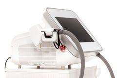 Σύγχρονος cosmetology εξοπλισμός για τη φροντίδα δέρματος λέιζερ Στοκ Φωτογραφία
