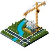 Σύγχρονος isometric βιομηχανικός γερανός ελεύθερη απεικόνιση δικαιώματος