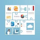 Σύγχρονου σχεδίου ελάχιστα jigs εγγράφου ύφους infographic Στοκ Φωτογραφίες