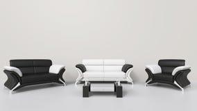 Σύγχρονο άσπρο καθιστικό Στοκ εικόνα με δικαίωμα ελεύθερης χρήσης