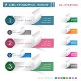 Σύγχρονο έμβλημα επιλογών infographics επίσης corel σύρετε το διάνυσμα απεικόνισης μπορέστε να χρησιμοποιηθείτε για το σχεδιάγραμ διανυσματική απεικόνιση