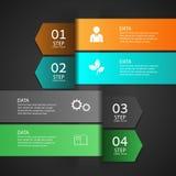 Σύγχρονο έμβλημα επιλογών επιχειρησιακού σχεδίου infographics Στοκ εικόνα με δικαίωμα ελεύθερης χρήσης