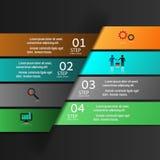Σύγχρονο έμβλημα επιλογών επιχειρησιακού σχεδίου infographics Στοκ Φωτογραφίες