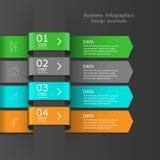 Σύγχρονο έμβλημα επιλογών επιχειρησιακού σχεδίου infographics Στοκ φωτογραφίες με δικαίωμα ελεύθερης χρήσης