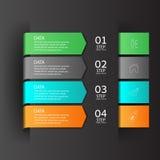 Σύγχρονο έμβλημα επιλογών επιχειρησιακού σχεδίου infographics Στοκ Εικόνα