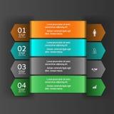 Σύγχρονο έμβλημα επιλογών επιχειρησιακού σχεδίου infographics Στοκ εικόνες με δικαίωμα ελεύθερης χρήσης