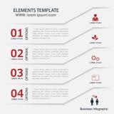 Σύγχρονο έμβλημα επιλογών επιχειρησιακού σχεδίου infographics Στοκ Φωτογραφία
