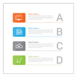 Σύγχρονο έμβλημα επιλογών επιχειρησιακού σχεδίου infographics Στοκ Εικόνες