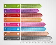 Σύγχρονο έμβλημα επιλογών επιχειρησιακών διαγραμμάτων και γραφικών παραστάσεων για το infographics ή τις παρουσιάσεις απεικόνιση αποθεμάτων