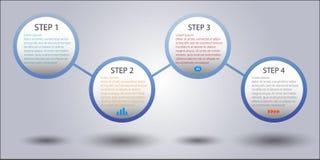 Σύγχρονο έμβλημα επιλογών ύφους επιχειρησιακών κύκλων διάνυσμα/απεικόνιση Στοκ Εικόνα