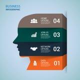 Σύγχρονο έμβλημα επιλογών infographics διάνυσμα Στοκ φωτογραφία με δικαίωμα ελεύθερης χρήσης