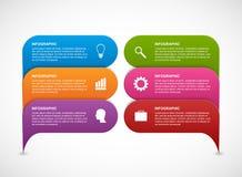 Σύγχρονο έμβλημα επιλογών infographics ελεύθερη απεικόνιση δικαιώματος