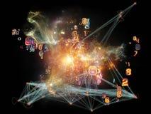 Σύγχρονο δίκτυο Στοκ εικόνα με δικαίωμα ελεύθερης χρήσης